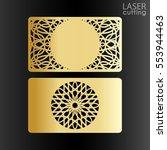 business card couple template... | Shutterstock .eps vector #553944463