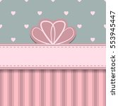 abstract bow card with hearts...   Shutterstock .eps vector #553945447