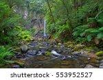 hopetoun falls in the otway... | Shutterstock . vector #553952527