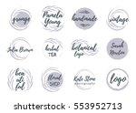 vintage botanical logos  badges ...