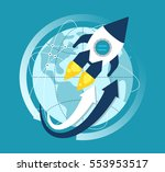 global cooperation. concept... | Shutterstock .eps vector #553953517