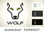 wolf logo | Shutterstock .eps vector #553969627