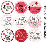 happy valentine s day. set of... | Shutterstock .eps vector #553973437