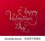 "lettering ""happy valentine's...   Shutterstock .eps vector #553973983"