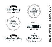 valentine's day set of symbols. ... | Shutterstock .eps vector #553975927