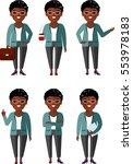 illustration of african... | Shutterstock .eps vector #553978183