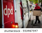 budapest hungary may 2016 dpd... | Shutterstock . vector #553987597