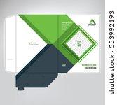 cover design  paper folder ... | Shutterstock .eps vector #553992193