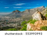 table mountain  cape town ... | Shutterstock . vector #553993993