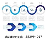 blue infographic process chart... | Shutterstock .eps vector #553994017