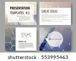 set of business templates for... | Shutterstock .eps vector #553995463