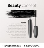 mascara fashion banner ... | Shutterstock .eps vector #553999093