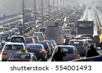 traffic jam in the rush hour | Shutterstock . vector #554001493