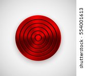 red technology circle badge ... | Shutterstock .eps vector #554001613