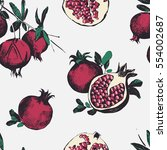 seamless pattern with... | Shutterstock .eps vector #554002687