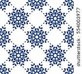 abstract seamless ornamental... | Shutterstock .eps vector #554003977