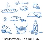 icon set of different food and... | Shutterstock .eps vector #554018137