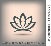 pictograph of lotus | Shutterstock .eps vector #554047717