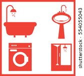 bathroom icons set | Shutterstock .eps vector #554055043
