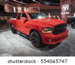 Small photo of DETROIT, US - JANUARY 9,2017: RAM 1500 Night Edition on display during the North American International Auto Show at the Cobo Center in downtown Detroit.