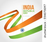 republic day of india 26 th... | Shutterstock .eps vector #554070097