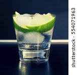 Small photo of an alcoholic or non-alcoholic cocktail. bar, restaurant, mint, lime, lemon, alcoholic, non-alcoholic