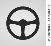 steering wheel icon isolated.... | Shutterstock .eps vector #554086543