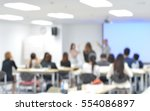 staff training at the... | Shutterstock . vector #554086897