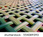 woven basket background with... | Shutterstock . vector #554089393