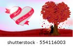 holiday retro banners.... | Shutterstock .eps vector #554116003