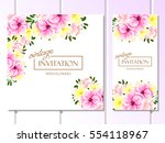 vintage delicate invitation... | Shutterstock .eps vector #554118967