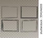 vector frames. rectangles for... | Shutterstock .eps vector #554146033