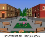 town square background with... | Shutterstock .eps vector #554181937
