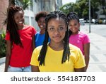 beautiful african american... | Shutterstock . vector #554187703
