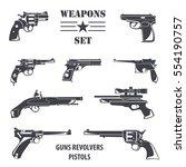 firearm set guns  pistols
