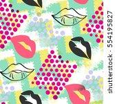 seamless pattern pop art design....   Shutterstock . vector #554195827
