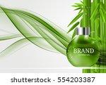 shower gel bottle template for... | Shutterstock .eps vector #554203387