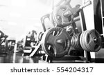 gym interior with equipment | Shutterstock . vector #554204317