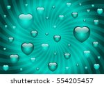 valentine's day card template... | Shutterstock .eps vector #554205457