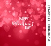 happy valentines day and... | Shutterstock .eps vector #554209687