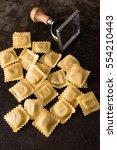 fresh ravioli | Shutterstock . vector #554210443