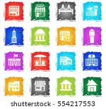 infrastructure web icons in... | Shutterstock .eps vector #554217553