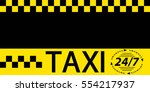 business card taxi banner ... | Shutterstock .eps vector #554217937