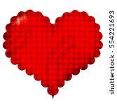 valentine's heart japanese... | Shutterstock .eps vector #554221693