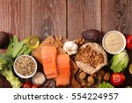 healthy food composition | Shutterstock . vector #554224957