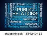 public relations word cloud on... | Shutterstock . vector #554240413