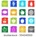 fruits simply symbols for web... | Shutterstock .eps vector #554240503