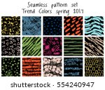 vector seamless pattern set.... | Shutterstock .eps vector #554240947