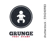 grunge post stamp. circle... | Shutterstock .eps vector #554240983