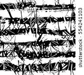 vector monochrome mark making... | Shutterstock .eps vector #554241103